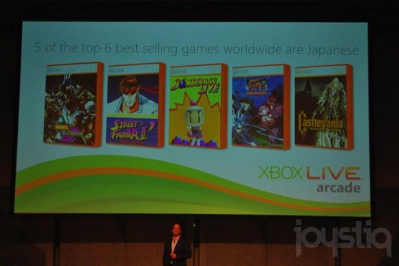 Cinq des six jeux les plus vendus sur le XLA sont japonais