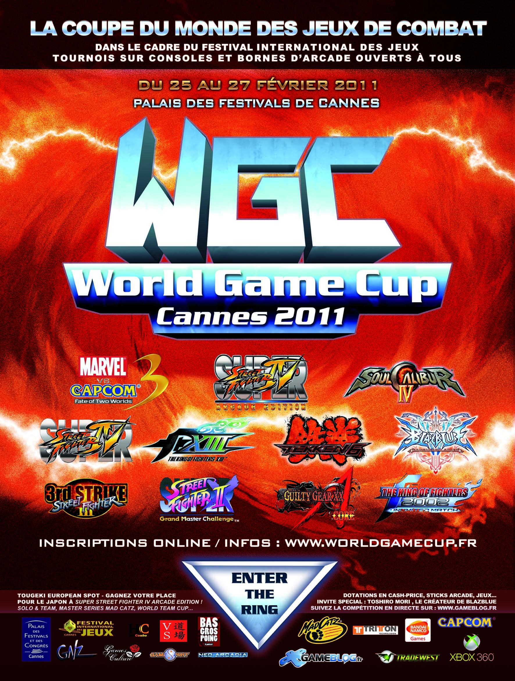 World Game Cup : inscriptions ouvertes et planning du weekend (attention, inscriptions uniquement en ligne !)
