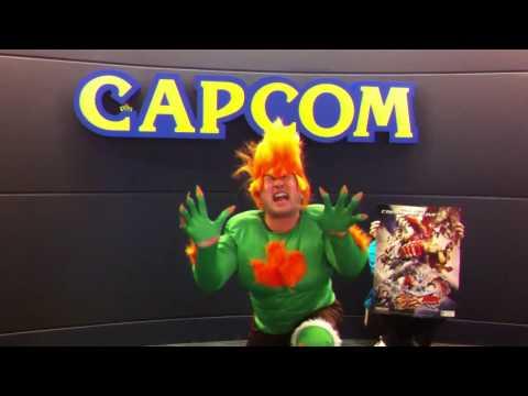 Street Fighter X Tekken Creator in a Blanka Costume
