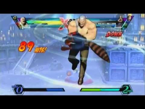 [UMVC3] Combo into Haggar raw tag = dead character